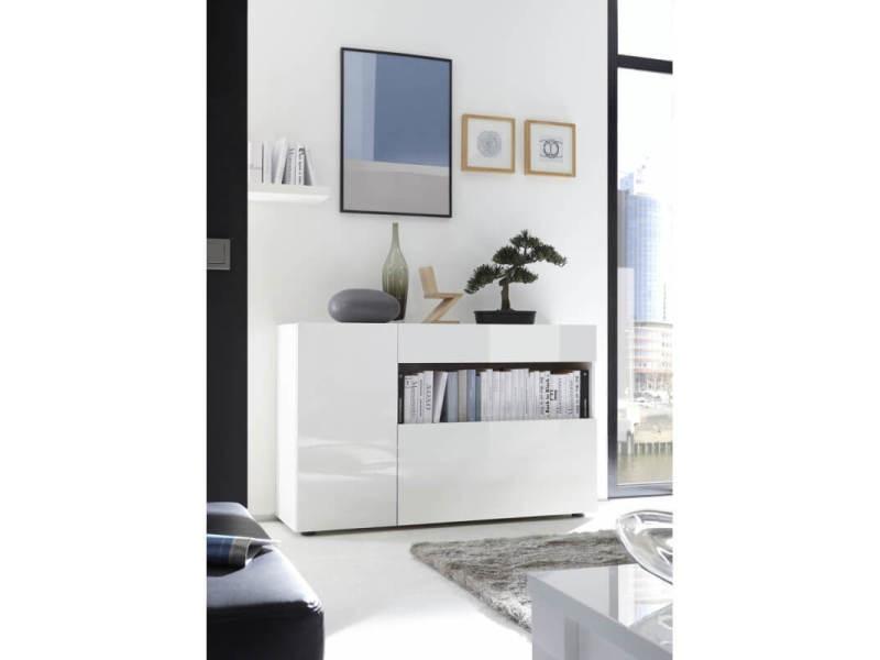 meuble de rangement design blanc laque camargue