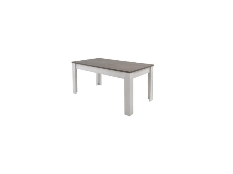 table repas marquis 90 x 170 x 77 2 cm coloris pin andersen vente de habitat et jardin conforama