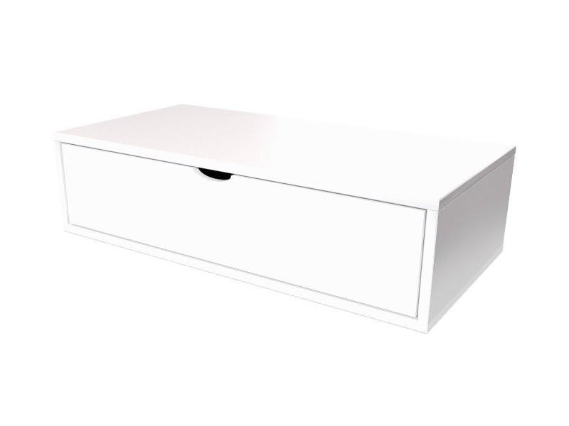 cube de rangement 100x50 cm tiroir blanc