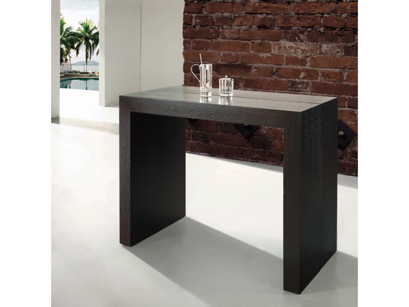 table console extensible nassau bois
