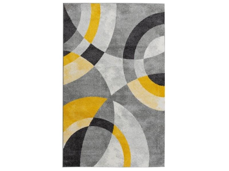 tapis contemporain jaune