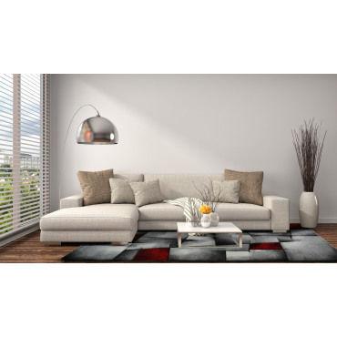 tapis design et moderne 200x290 cm rectangulaire brillance 660 910 rouge salle a manger adapte au chauffage par le sol m48574594