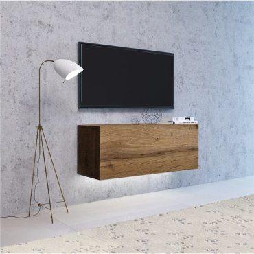 vivio meuble tv a suspendre avec led