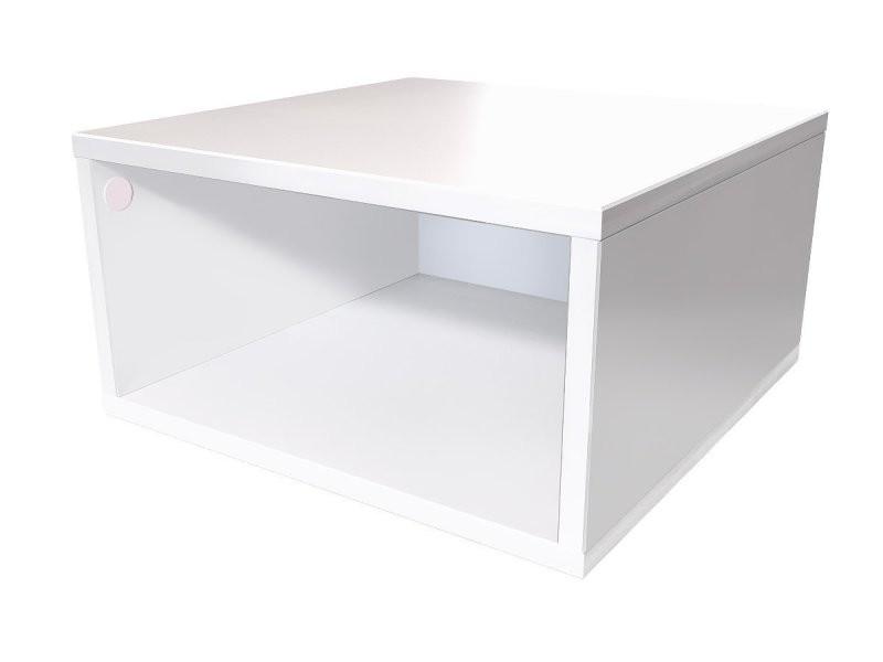 cube rangement blanc