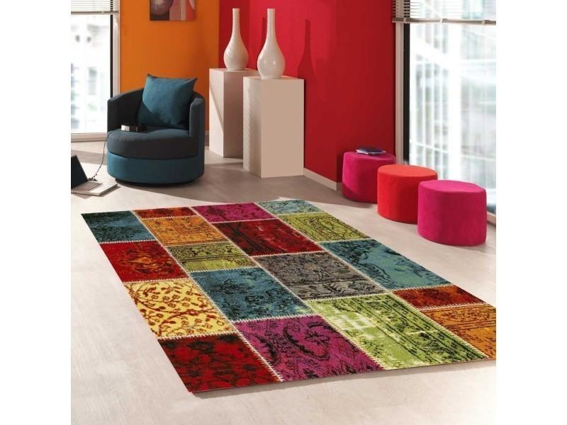 tapis moderne orange
