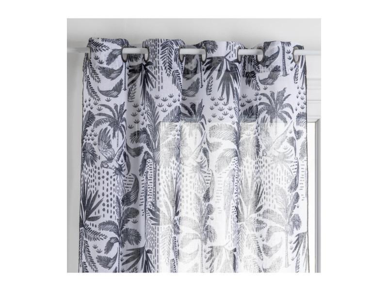 rideau linge noir blanc