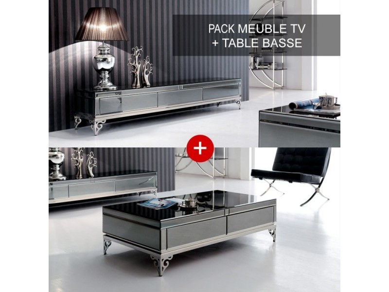 ensemble meuble tele et table basse elegante