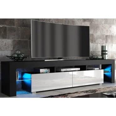 meuble tv spider big a led en noir mat