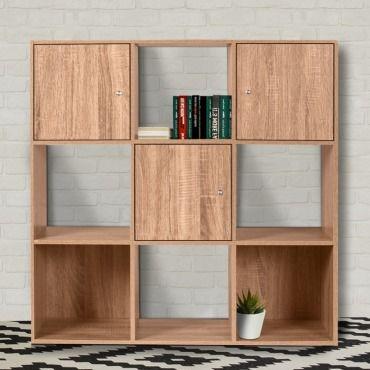 meuble de rangement cube 9 cases bois