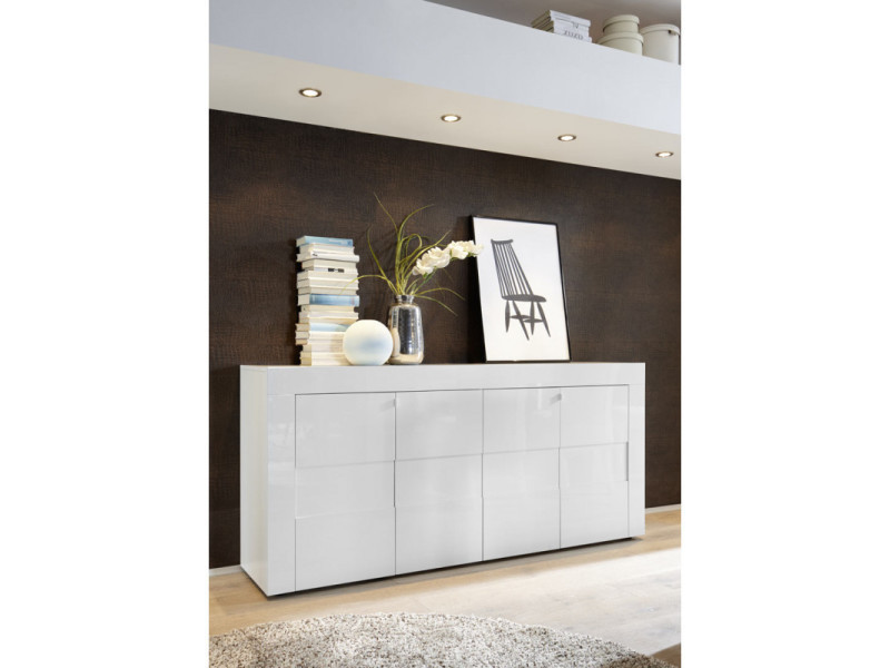 buffet bahut design 181 cm daisy coloris blanc