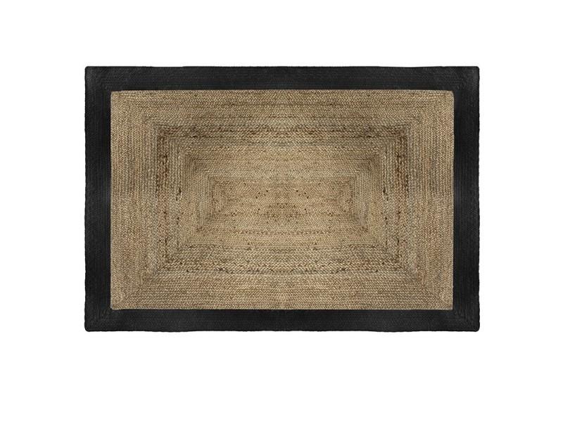 tapis jute naturel bord noir 120x170 atmosphera