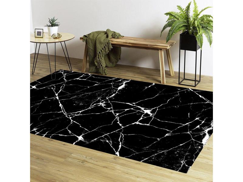 https www conforama fr decoration textile tapis tapis cuisine tapis effet marbre noir 80x150 cm p a55713133