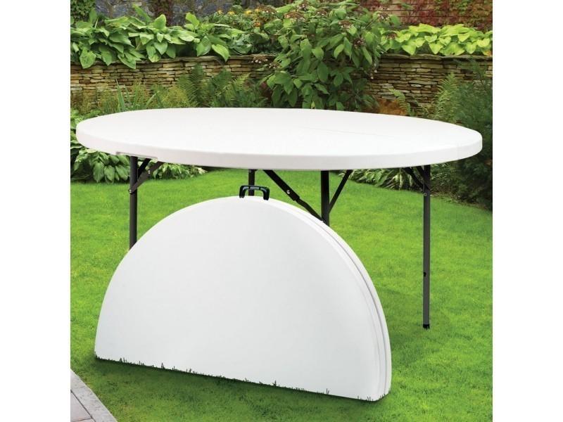 tables de jardin admirable table ronde pliante en resine o 122 cm