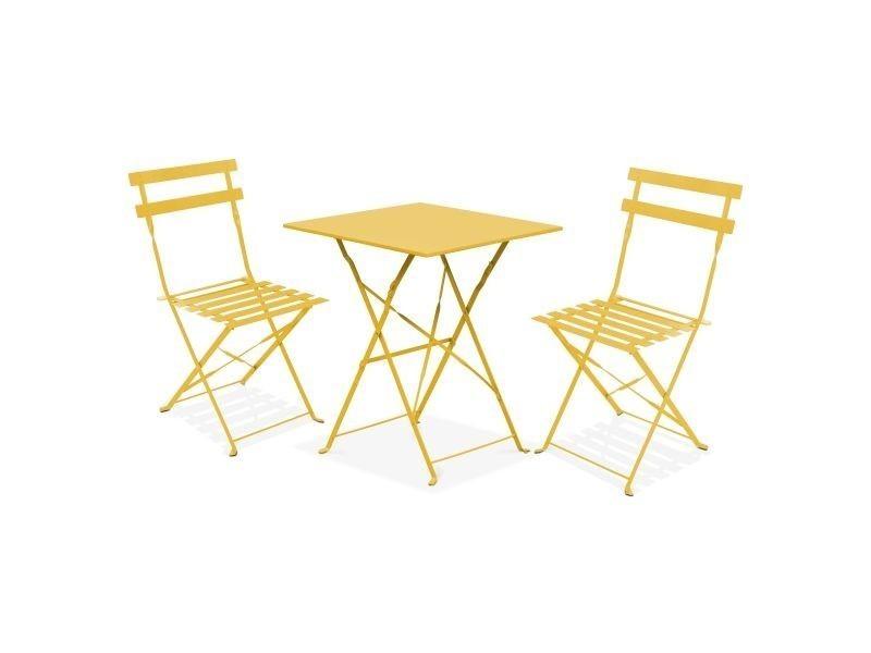 table bistrot de jardin et 2 chaises