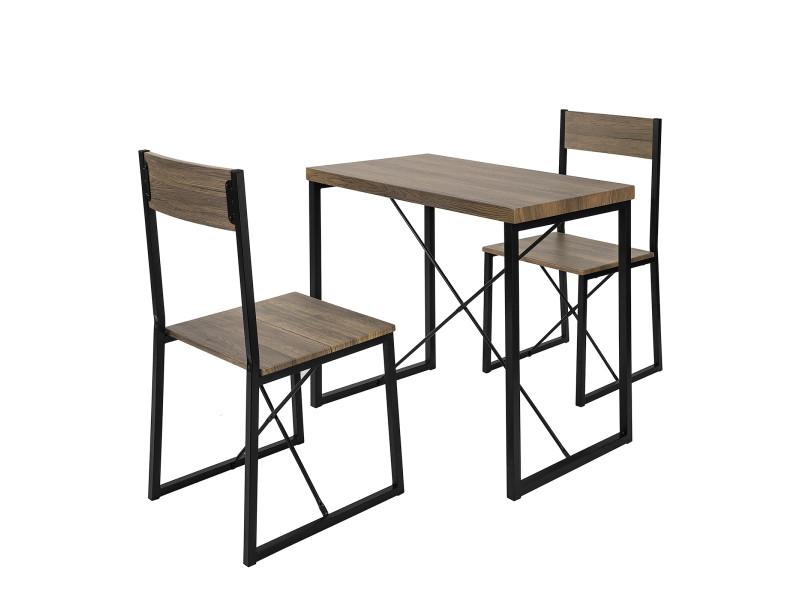 set de 1 table 2 chaises table a manger table de cuisine ensemble table de balcon 2 tabourets avec dossier mobilier de jardin ogt19 n sobuy
