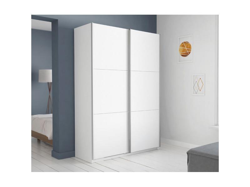 armoire 2 portes coulissantes blanche 150 gela l 154 x l 65 x h 224 cm