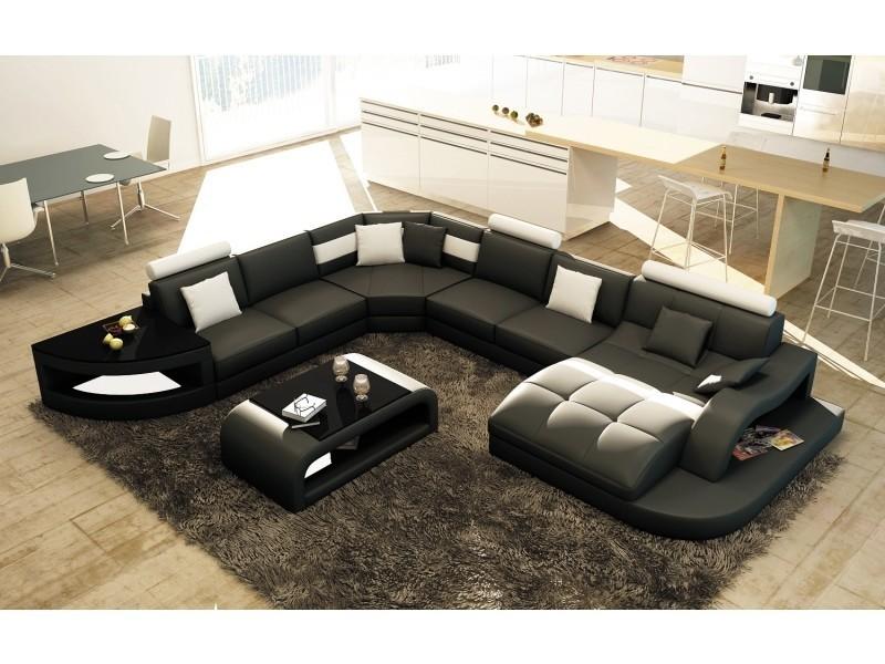 canape d angle design panoramique noir et blanc istanbul angle droit