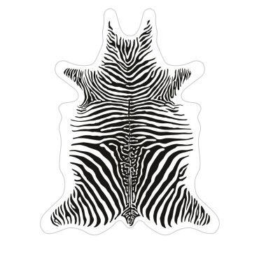tapis vinyle imprime blanc style peau
