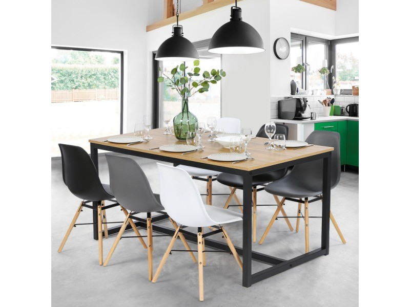table a manger detroit design industriel 150 cm