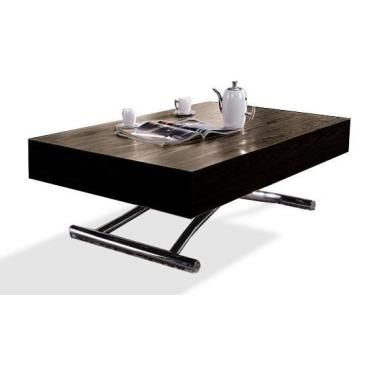 table basse relevable cube wenge