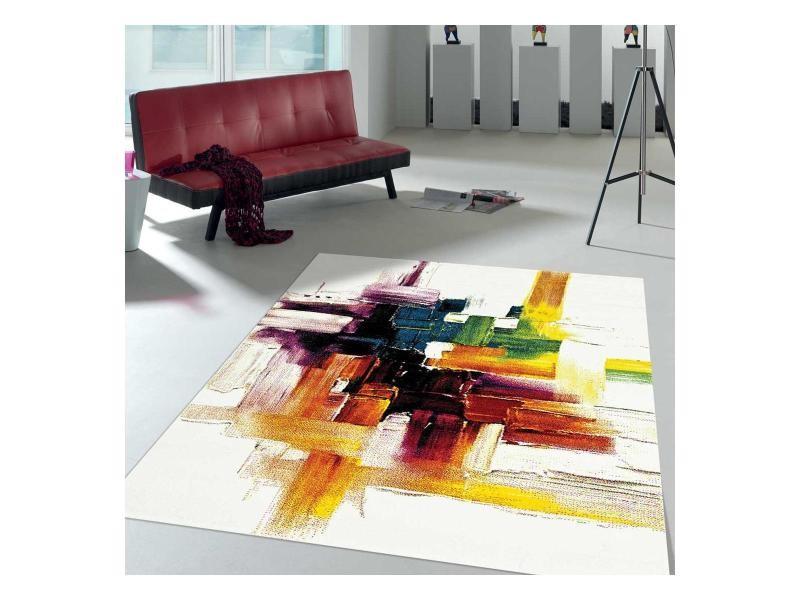 tapis moderne 240x340 cm rectangulaire jolia 3 creme salle a manger adapte au chauffage par le sol