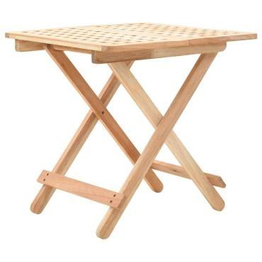 vidaxl table d appoint pliante 50 x 50 x 49 cm bois de noyer massif l60480444