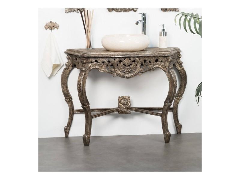 Meuble Salle De Bain Patin Bronze Baroque 100 31114
