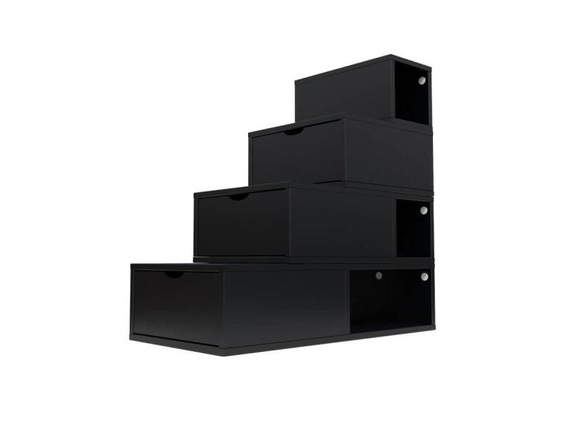cube rangement noir