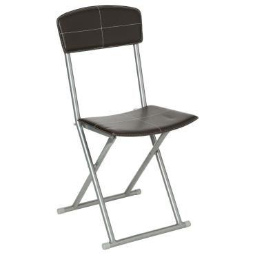 chaise pliante design marron atmosphera h24406666