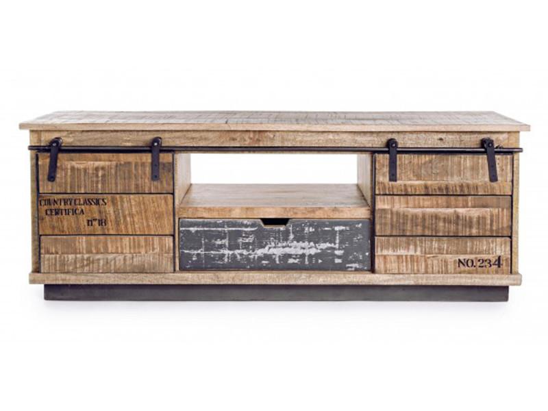 meuble bas avec 2 portes et 1 tiroir dim l 130 x p 40 x h 50 cm pegane