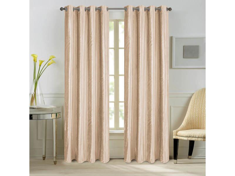 paire rideaux come velours nude dimensions 140x260cm