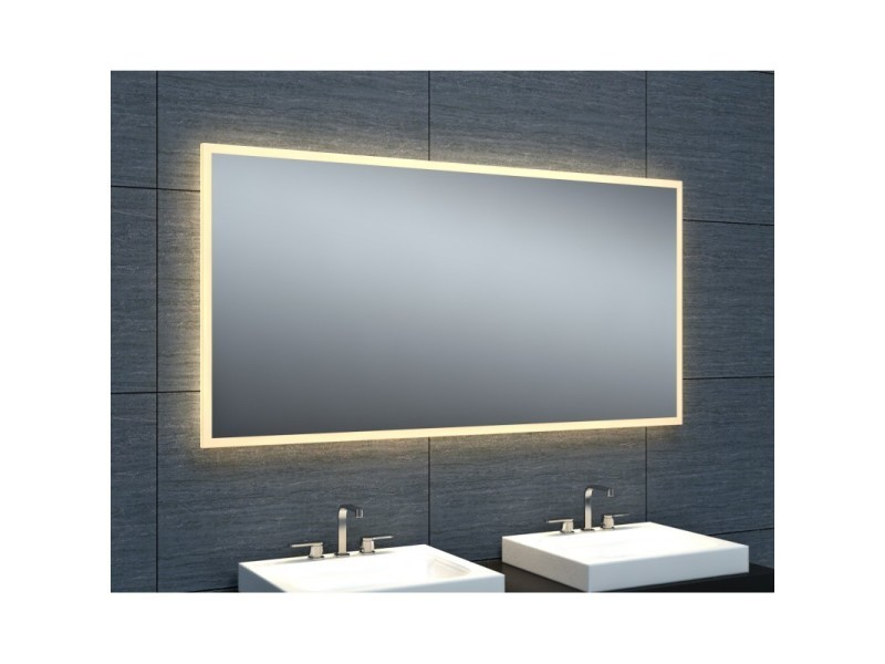 Miroir De Salle De Bains Avec Eclairage Led Modele Epure 120 60 Cm X 120 Cm Hxl Vente De Pradel Premium Conforama