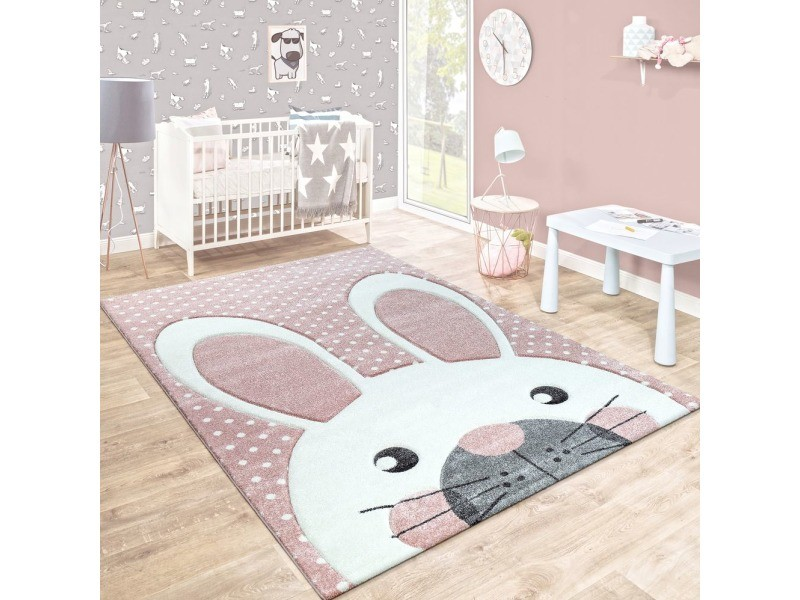 tapis enfant pastel kids lapin 160x230