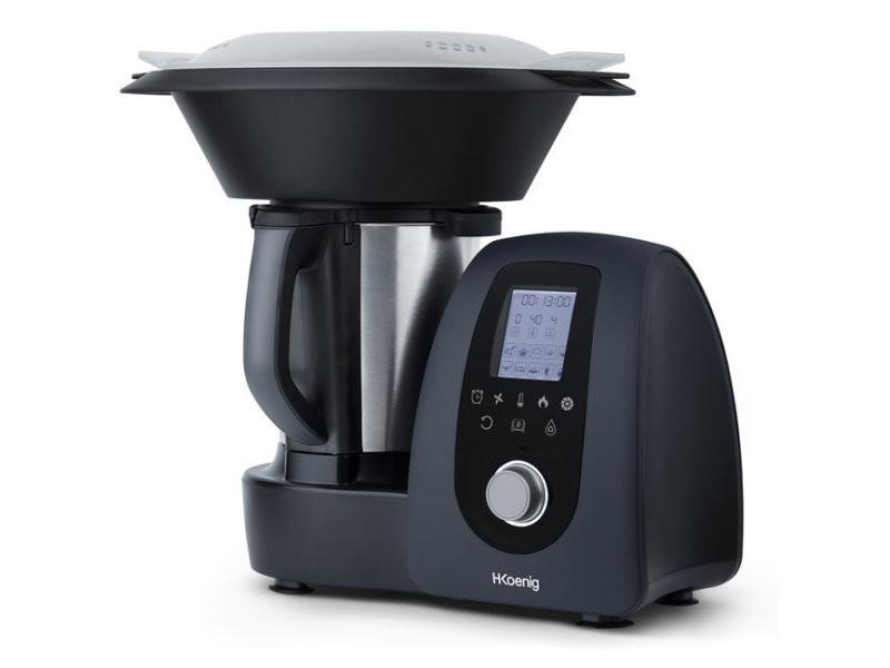 h koenig robot de cuisine multifonction 1000 w 15 programmes de cuisson 10 vitesses 2 litres de capacite ref hk8