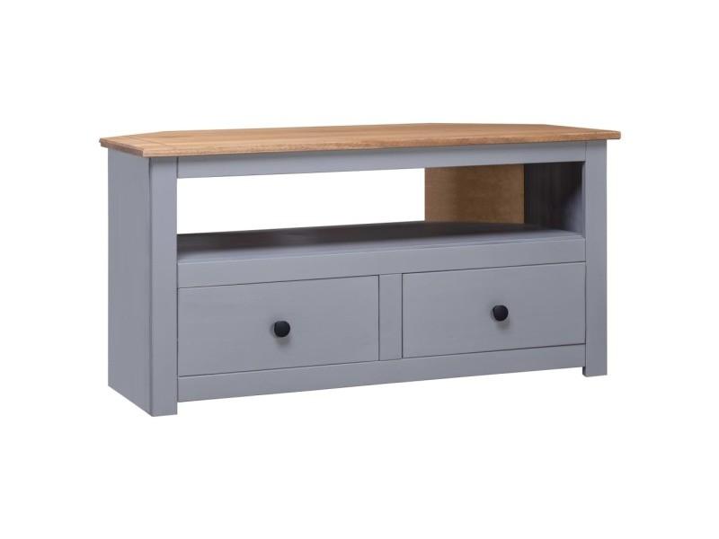 style meubles selection singapour meuble tv d angle gris 93x55x49cm pin solide assortiment panama