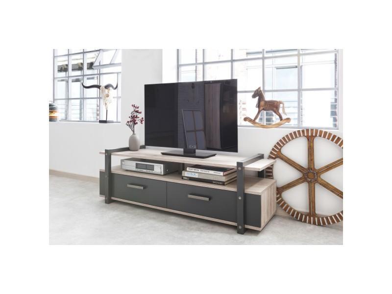 meuble tv de style industriel brooklyn