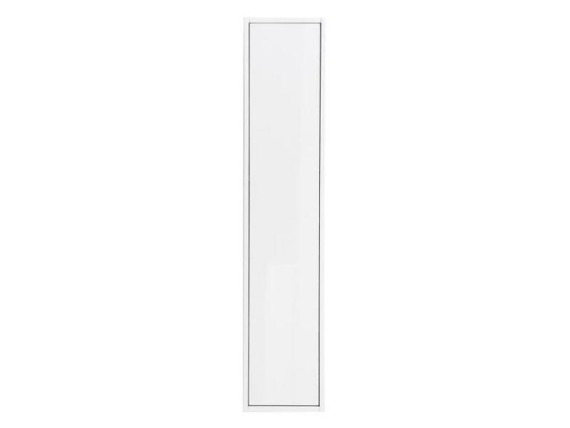 meuble colonne laque blanc