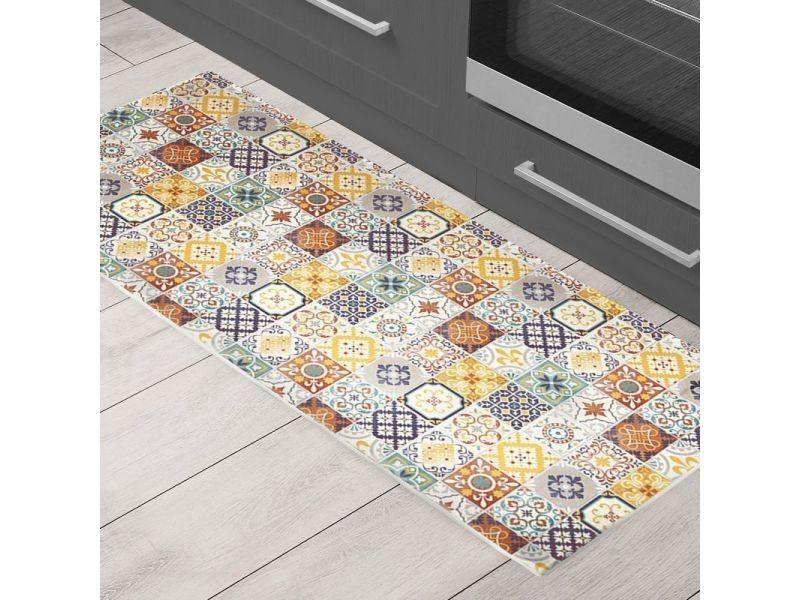 carreaux de ciment tapis motifs carreaux de ciment jaune 50x120