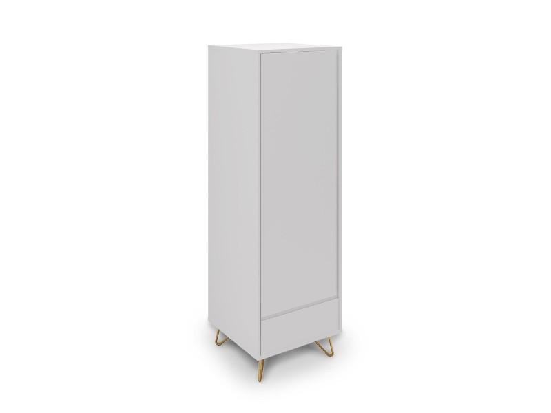 armoire penderie 1 porte 1 tiroir blanche darina