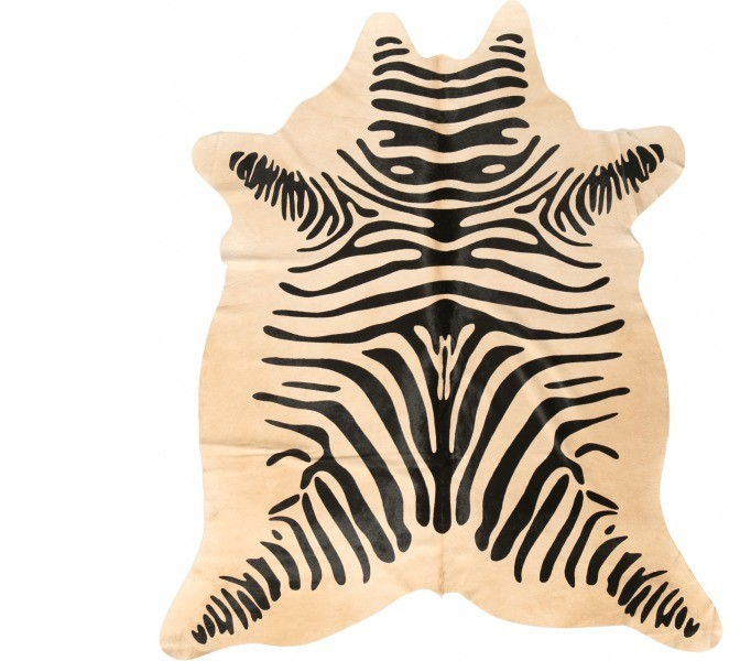 peau de vache safari zebre 3 4m2 blanc noir