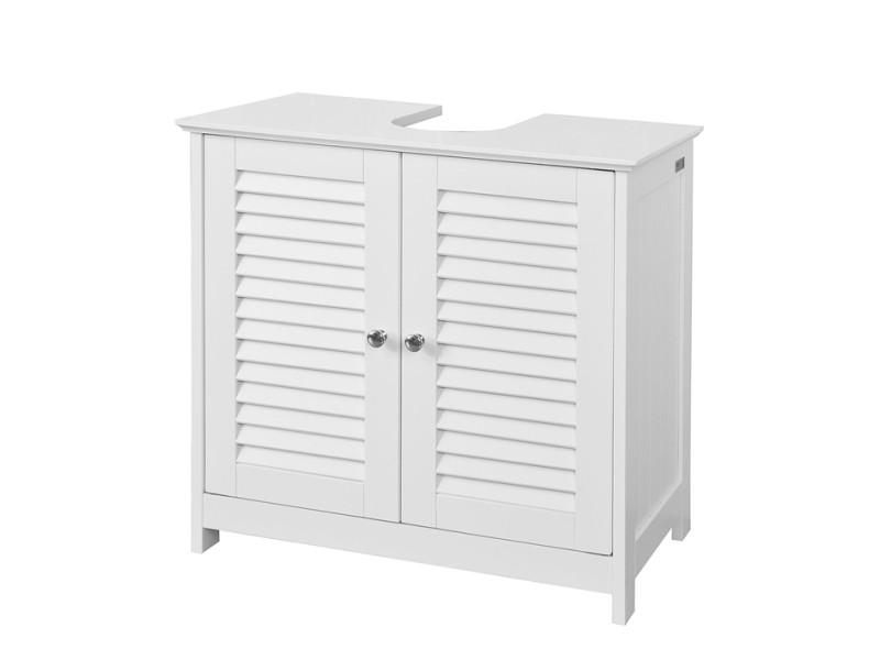 meuble sous lavabo meuble de salle de bain vasque 2 portes et 2 etages a l interieur blanc sobuy frg237 w