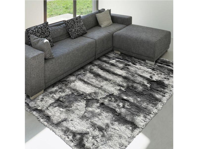 tapis shaggy poils long 140x200 cm