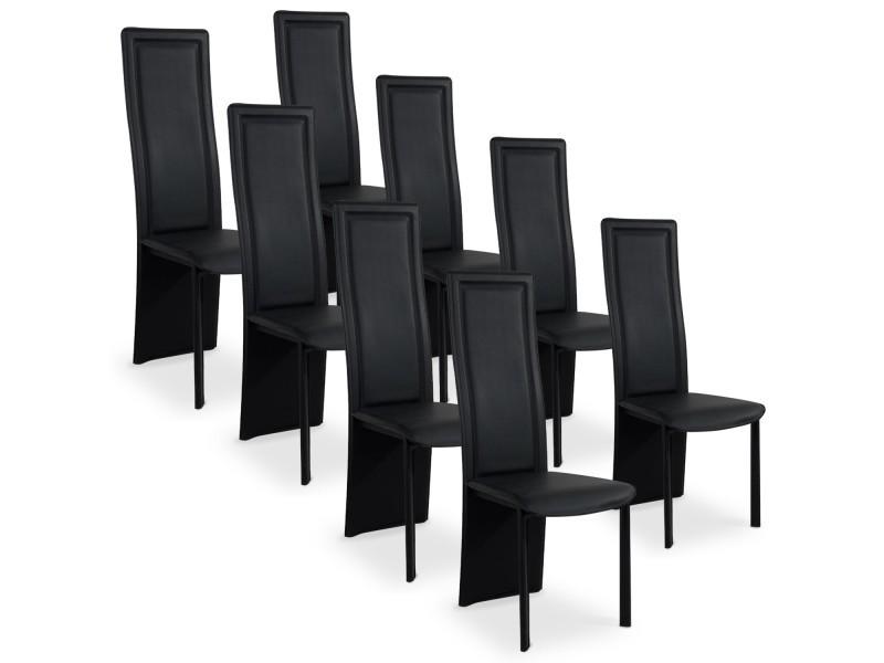 lot de 8 chaises design maestro noir