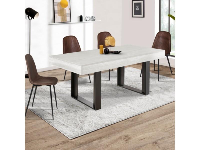 table a manger phoenix 160 cm bois gris