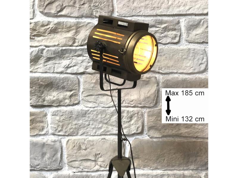 lampadaire industriel lampe halogene projecteur 185 cm