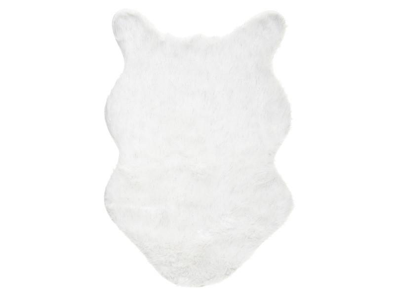 tapis imitation fourrure mouton 60x90 cm blanc