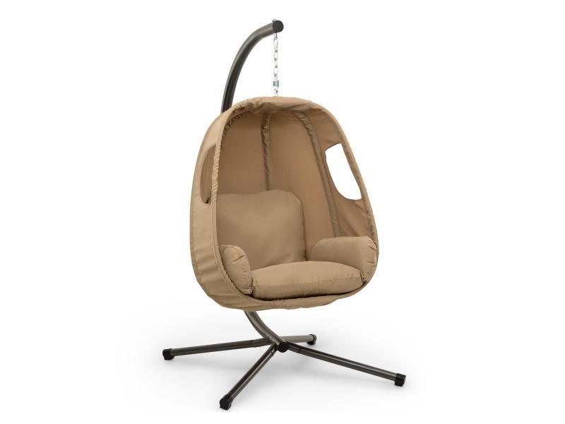 blumfeldt bella donna fauteuil suspendu de jardin coussin housse polyester beige