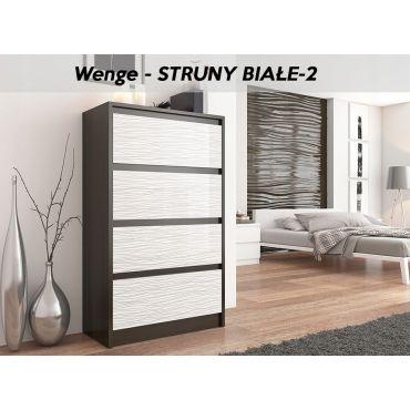 sintra w commode style moderne chambre salon bureau 98x70x40cm 4 tiroirs meuble de rangement wenge blanc e94809133