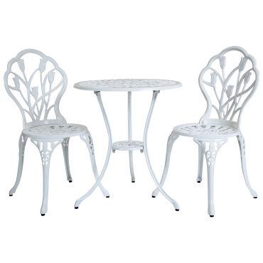 lot de 2 chaises 1 table tulipes