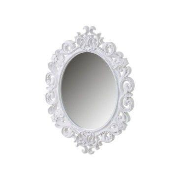 miroir mural ovale avec larges moulures